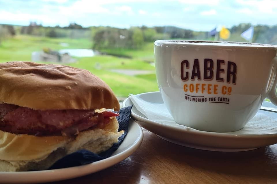 Bacon Roll & Caber Coffee