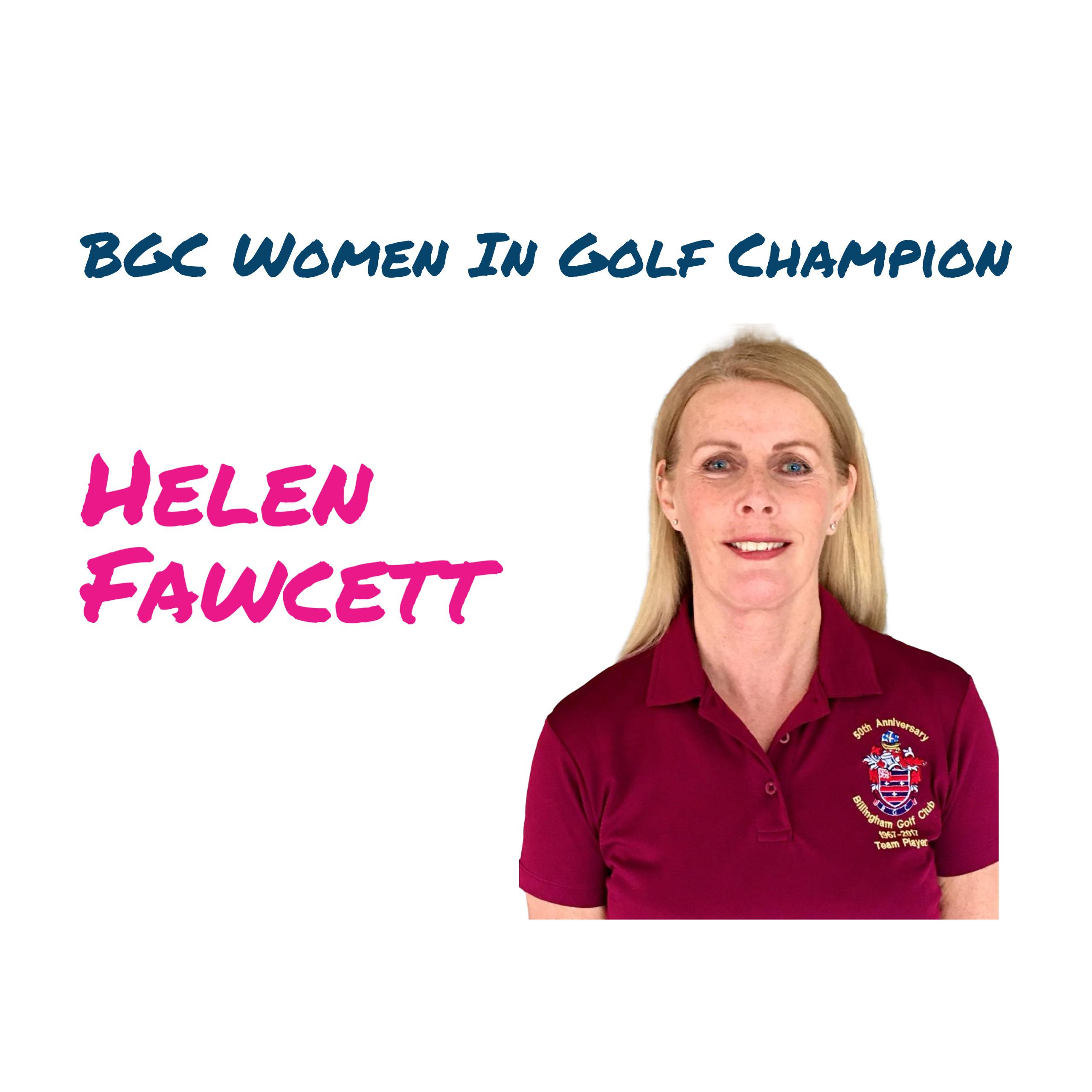 BGC Women In Golf Charter Champion Helen Fawcett