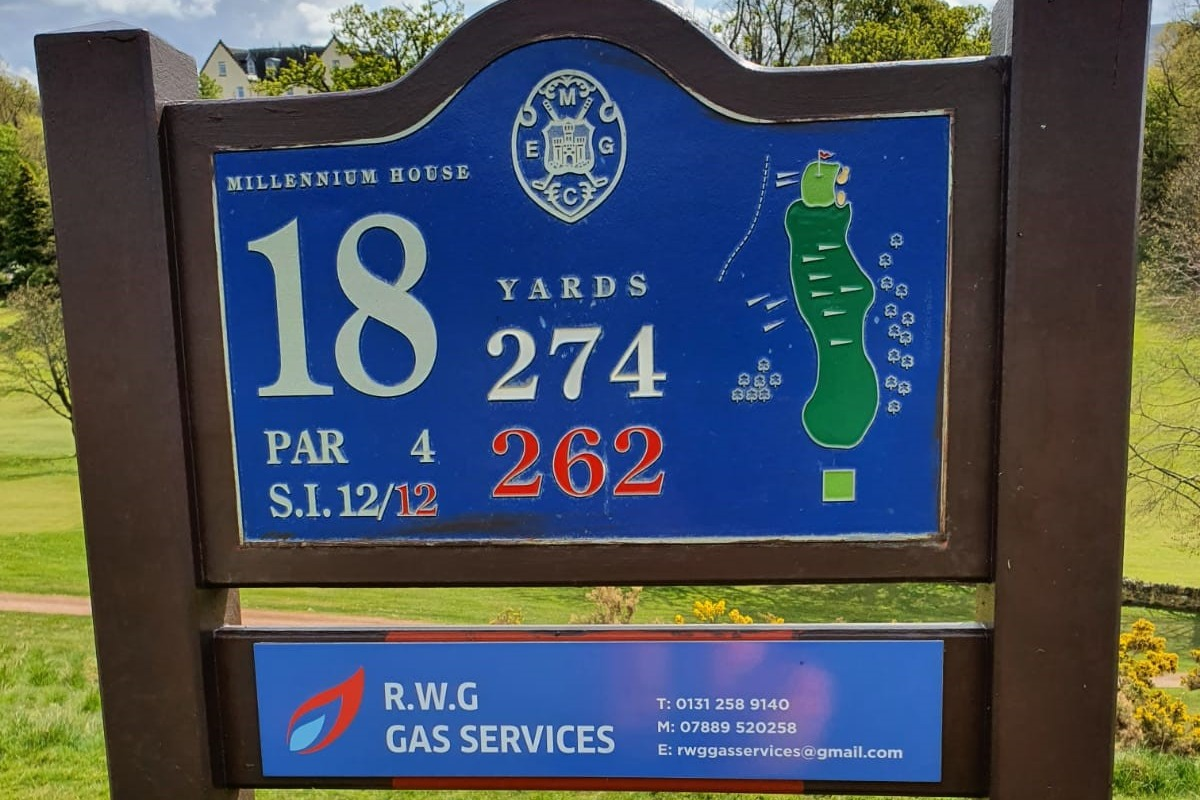 RWG Gas services - 18th tee sponsor