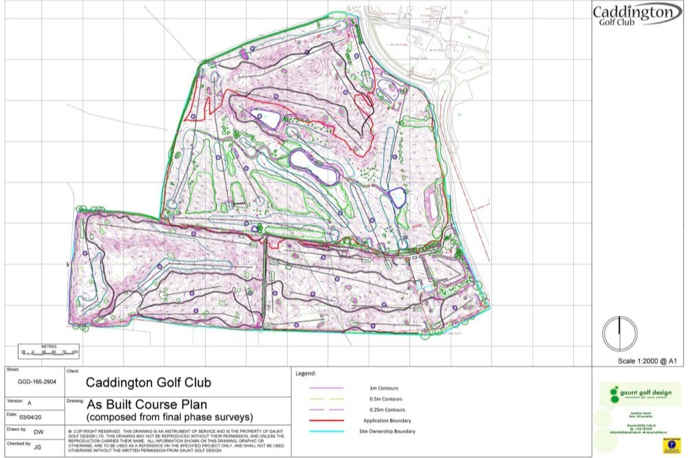 As Built Course Plan