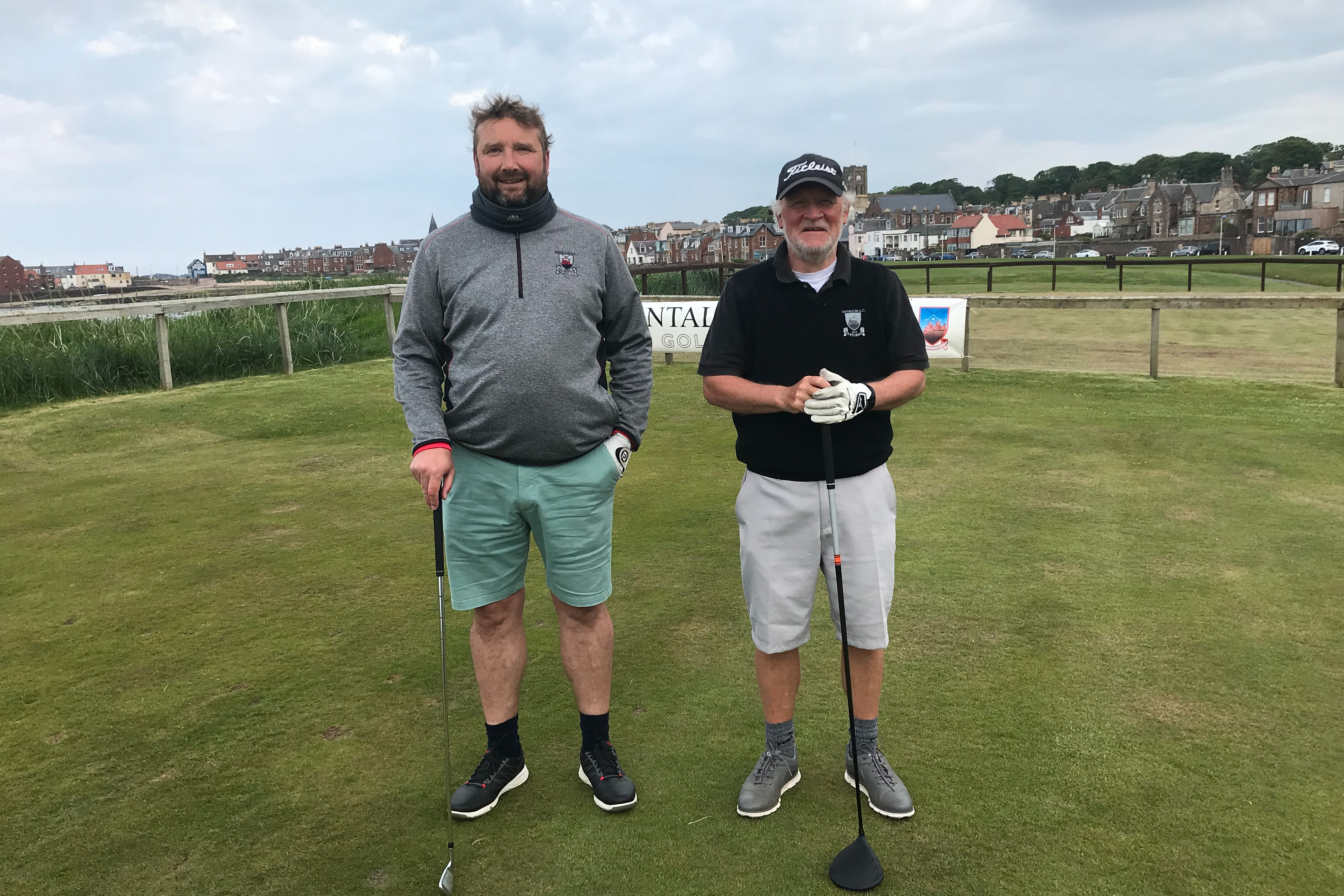 Paul Howson (bearded) holed a 25 footer at the last to see off Iain 'the gentleman' Whiteford