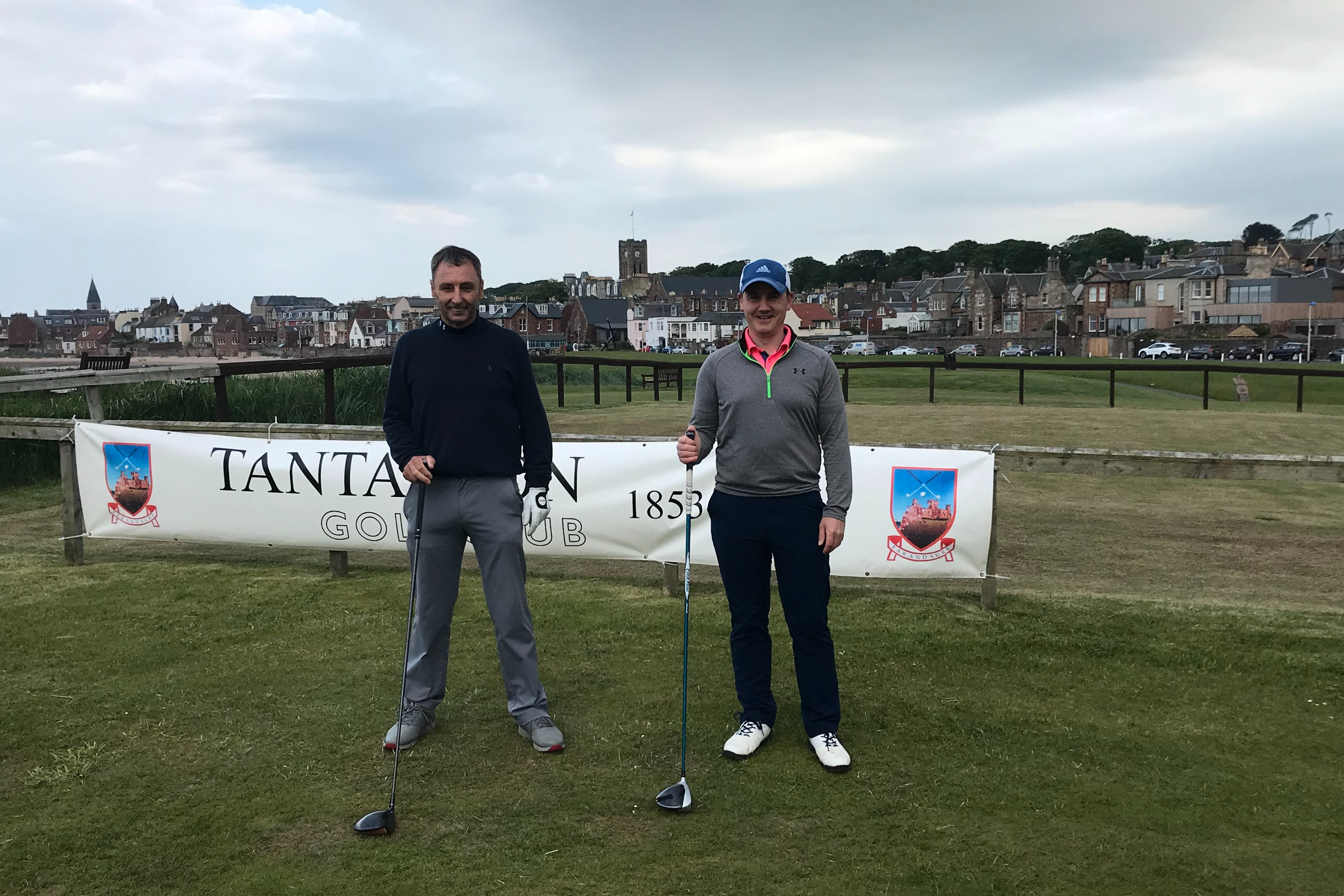 Aaron Rock (right) saw off John Heggie 4 & 3  after an incident free match