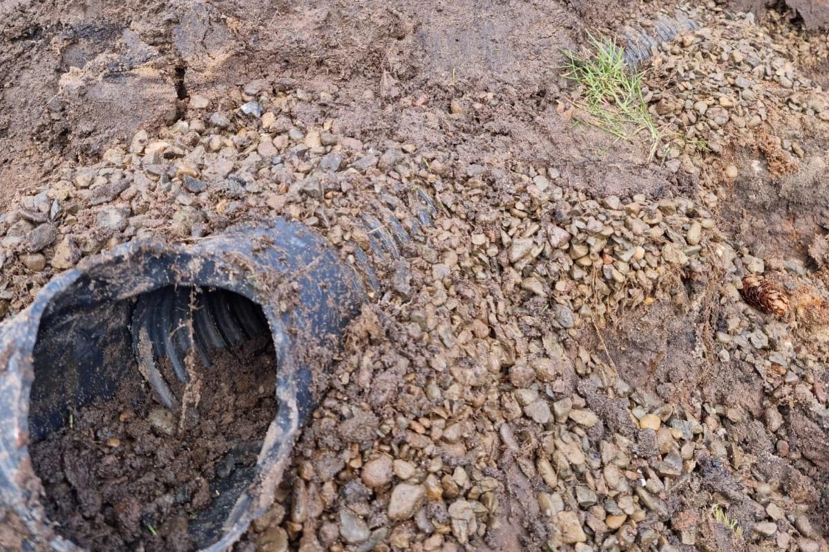 A dry drain