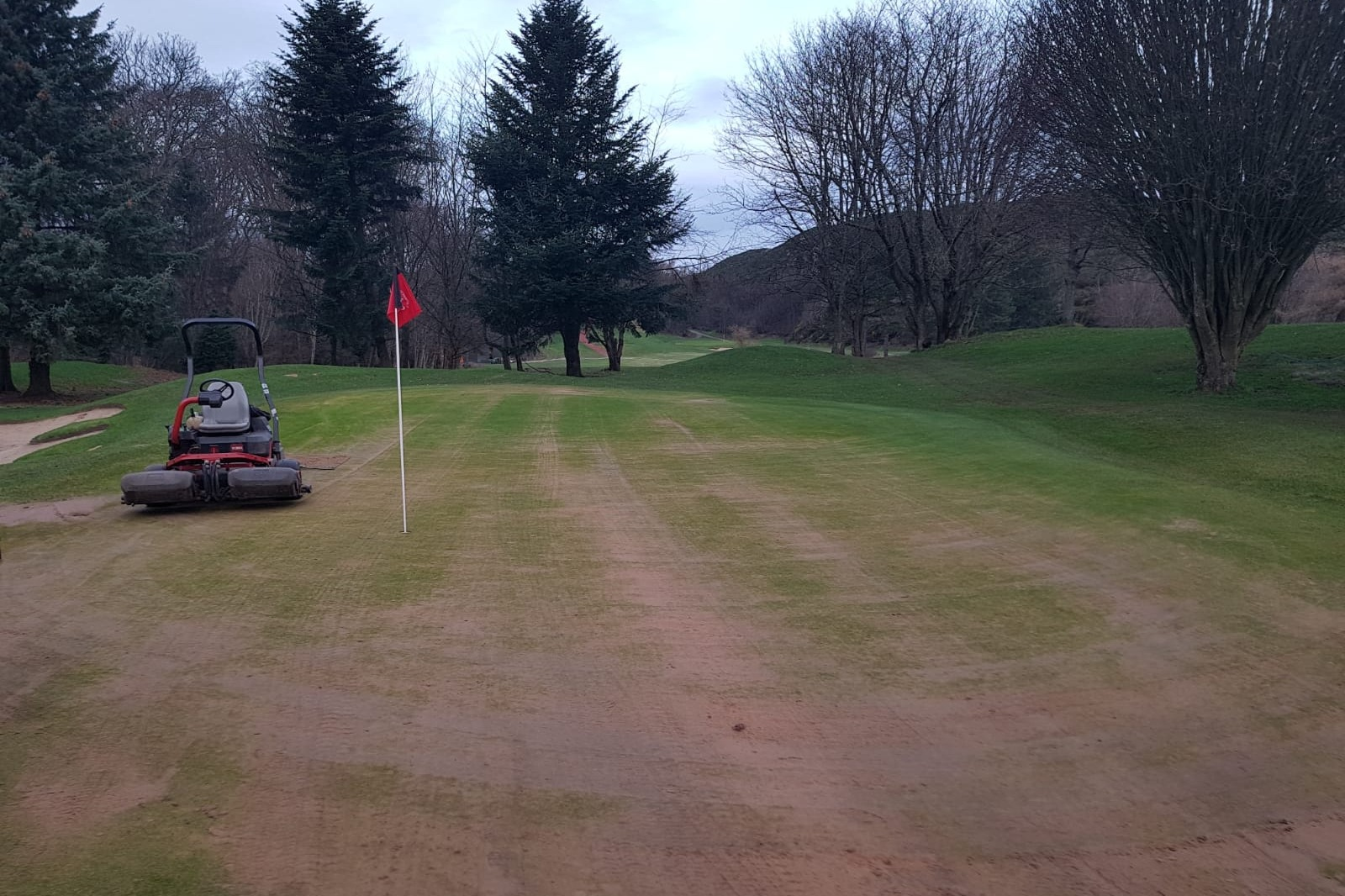 greens and fairways are now dressed regularly