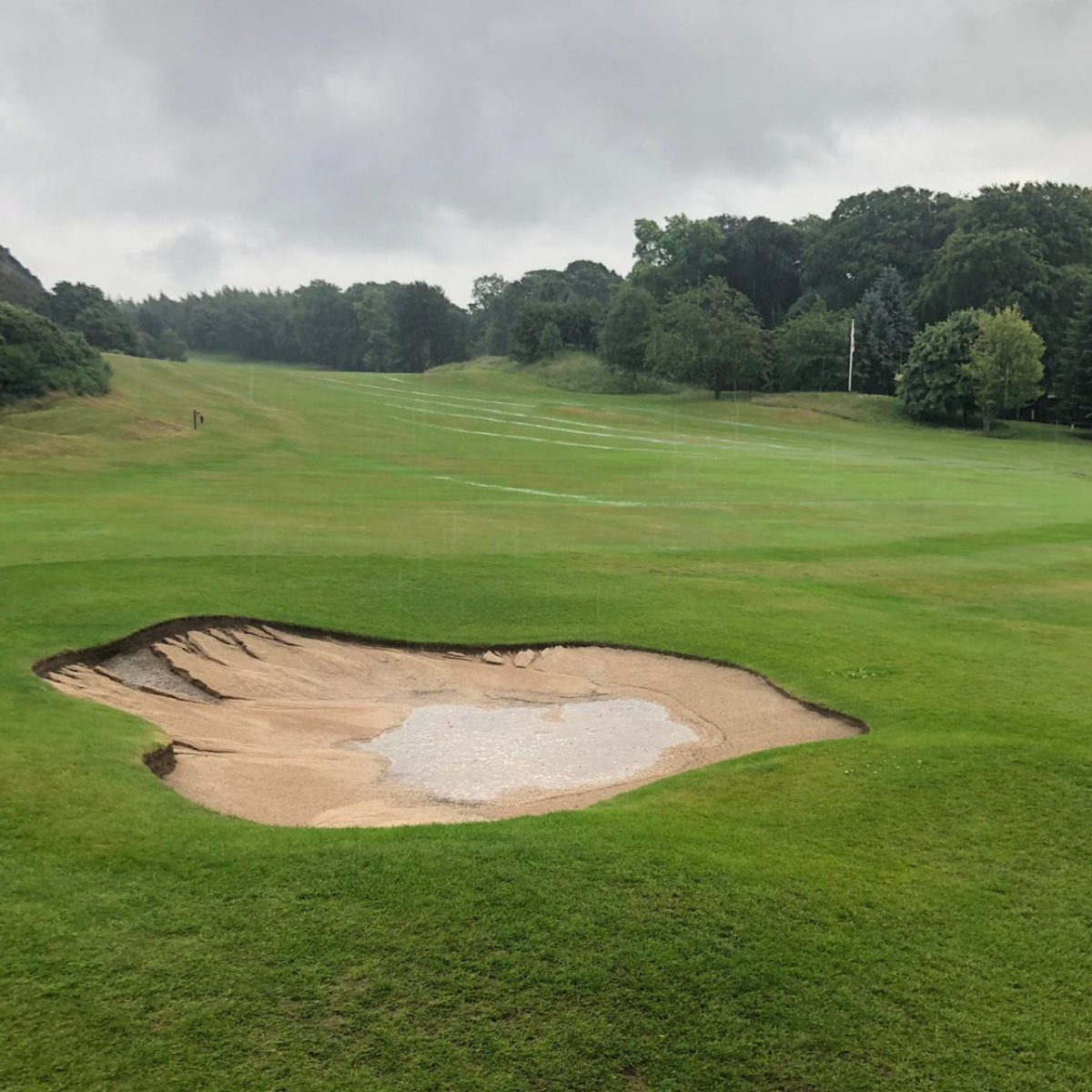 bunkers took a battering