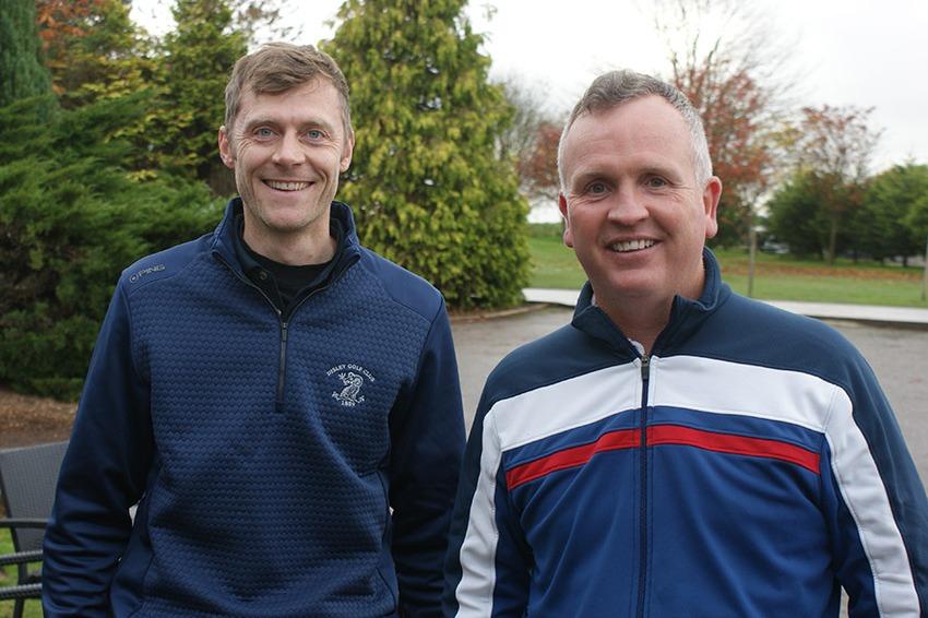 Ian Ridgway (Disley) with Andrew McKenzie (Teaching Professional High Legh Park)