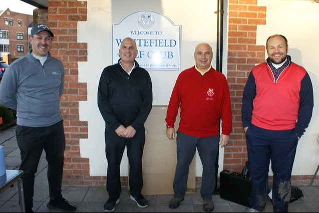 The winning team from Whitefield Golf Club