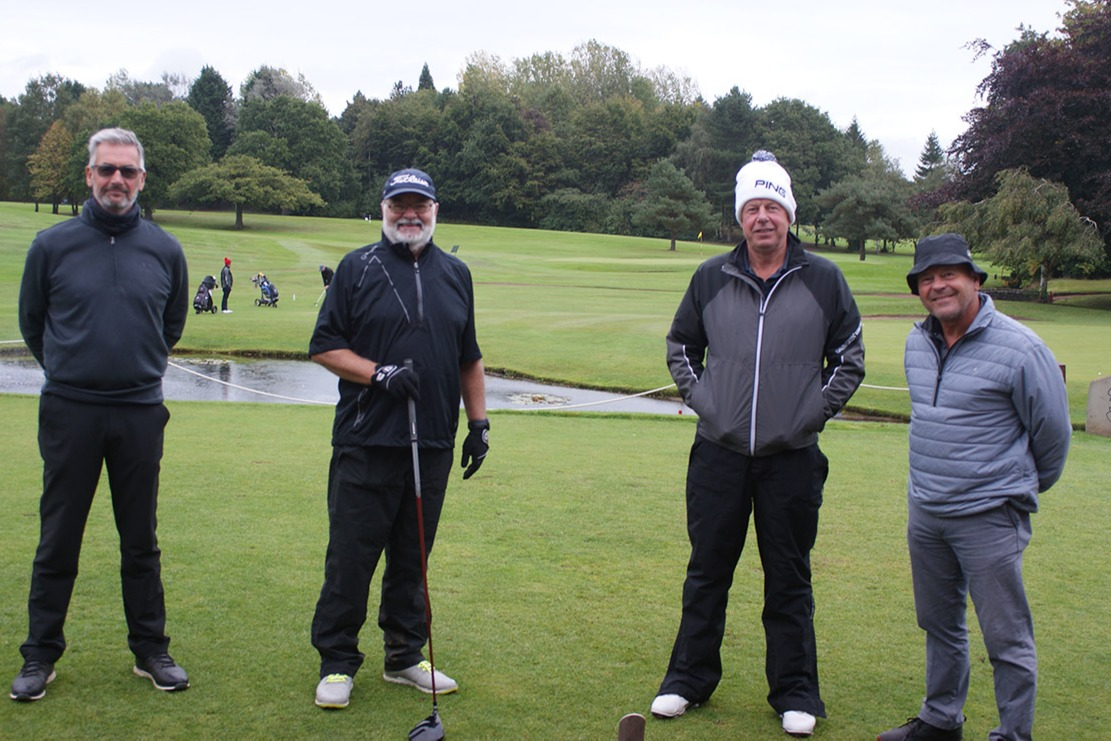 Alan Smith, Brian Marriott (Bramhall Captain), MDGA Captain Gary Brown, Richard Blackwell