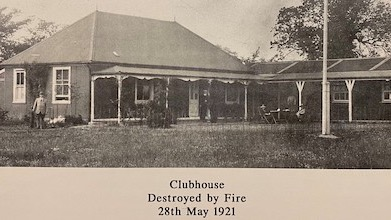 Clubhouse Destroyed by Fire