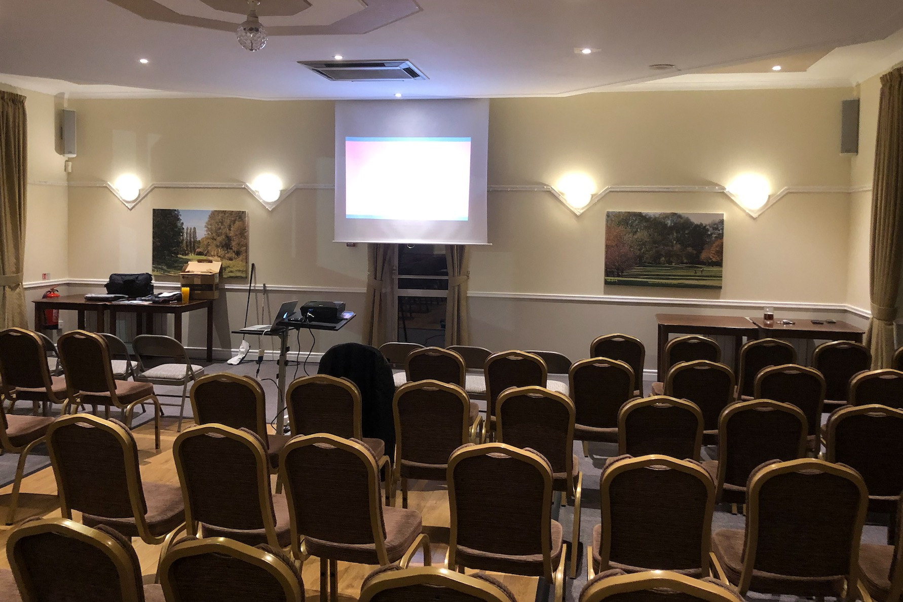 The function Room set for a meeting
