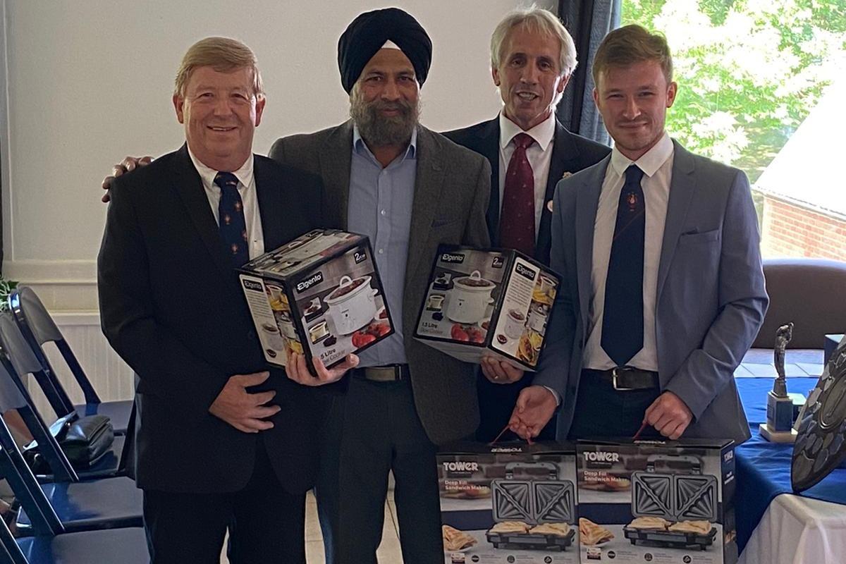 PM scramble winners - Steve Kelk, Parmjit Sohal, Tom Kelk & (Roger Stagg)