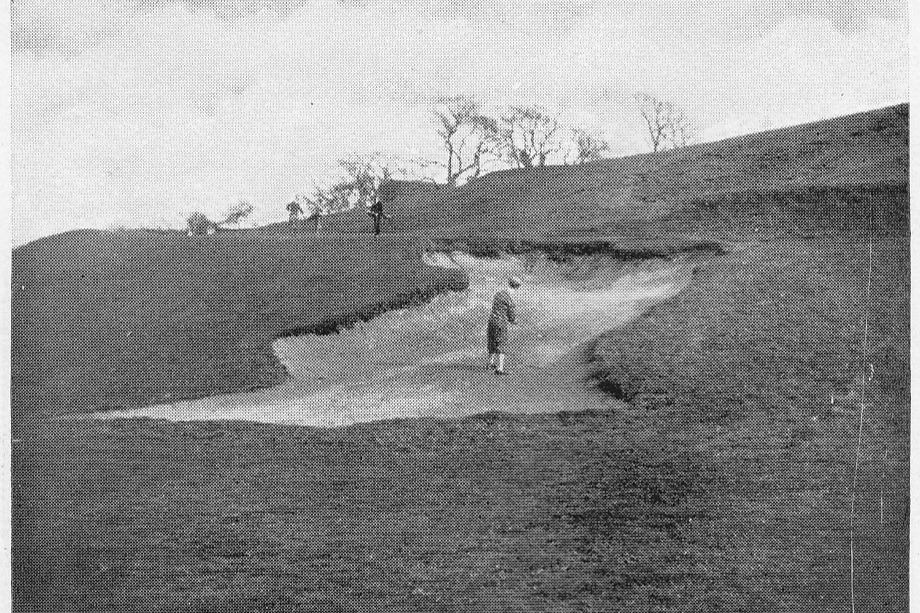 The right-hand bunker at the 3rd green
