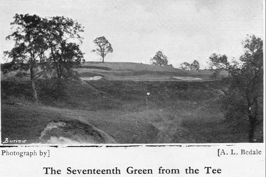 The 17th green from the tee