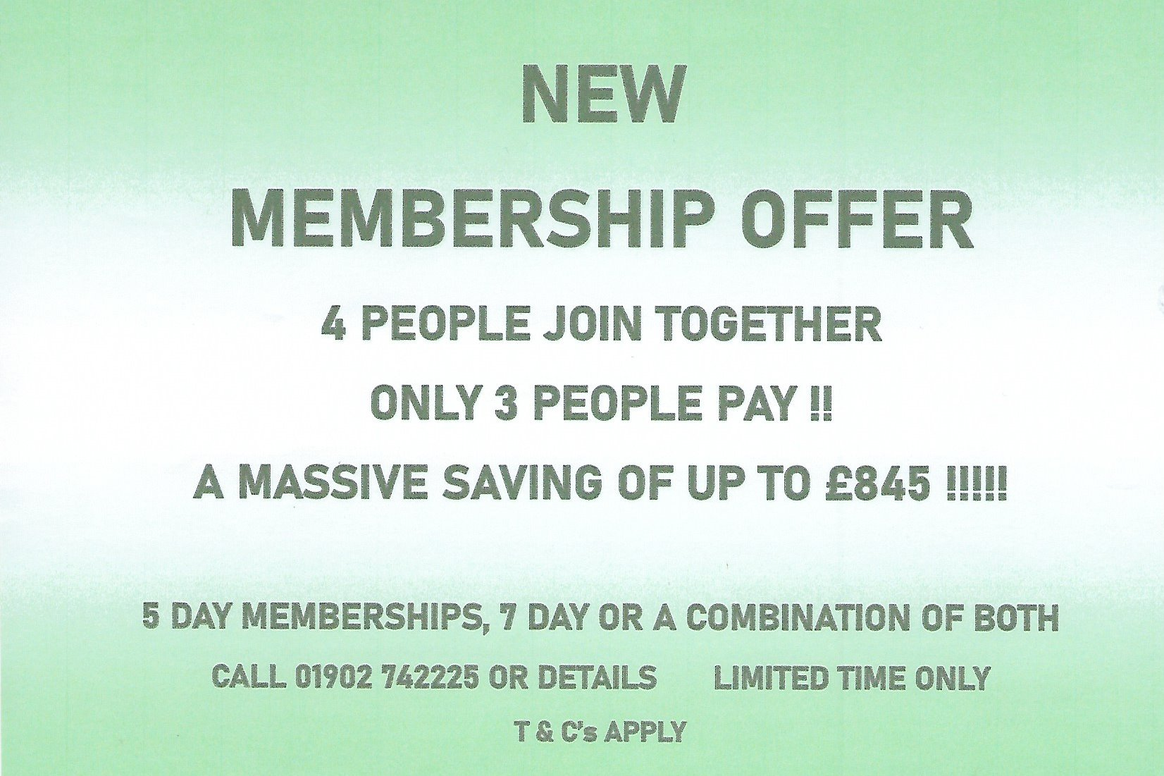 25% OFF YOUR MEMBERSHIP