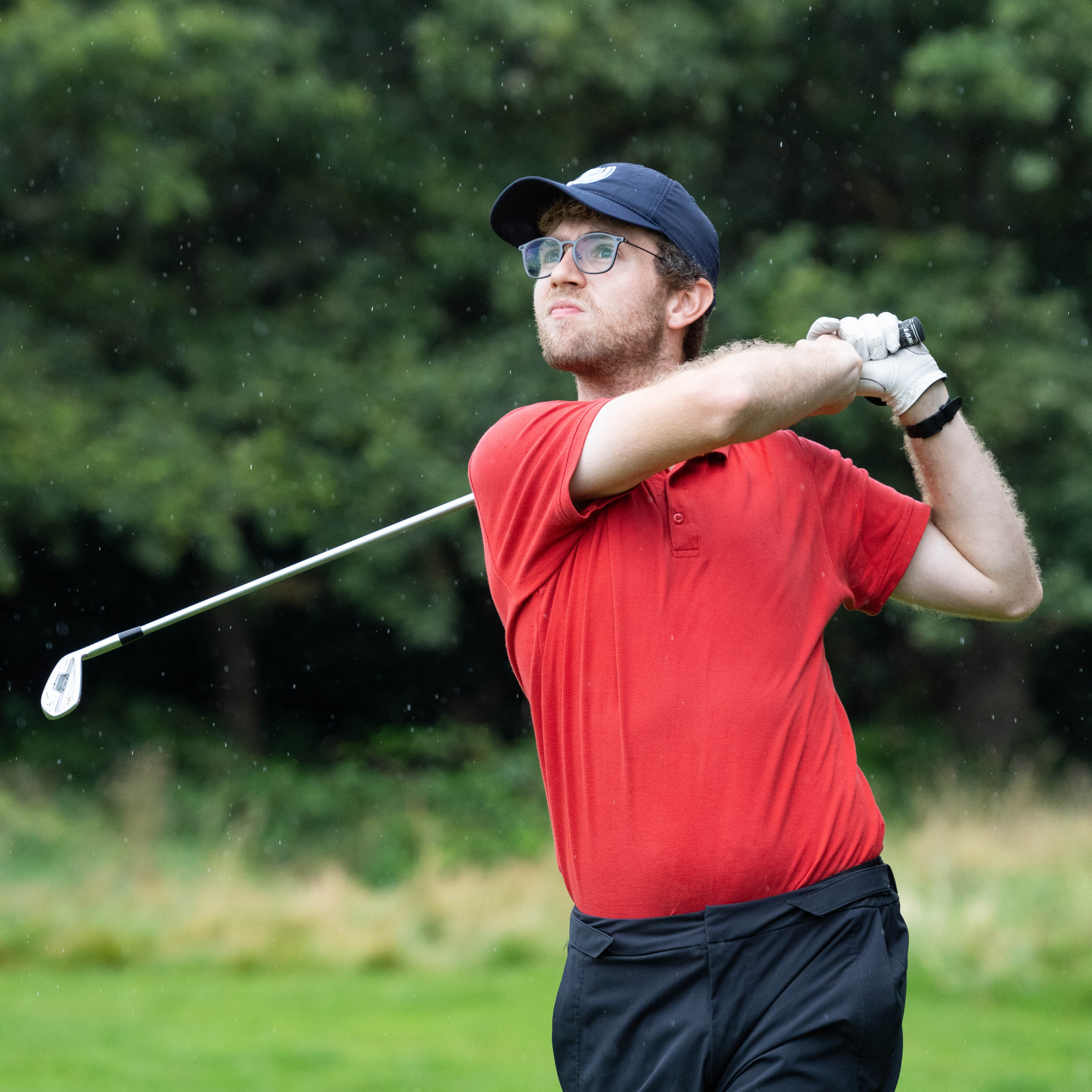 James Taylor with another assured long iron off the tee