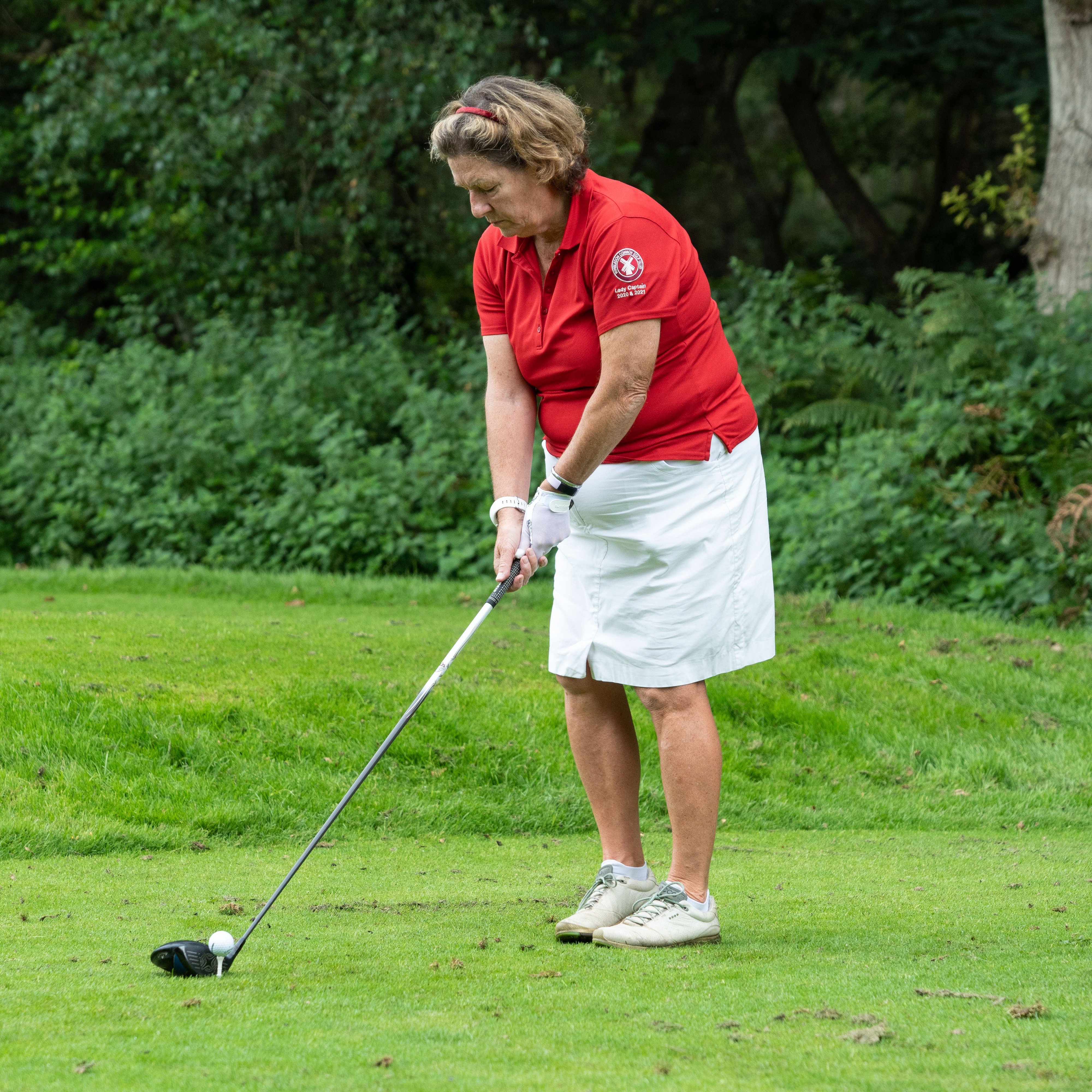 Lady Captain Teeing off