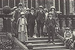 Members gathering on the Clubhouse steps