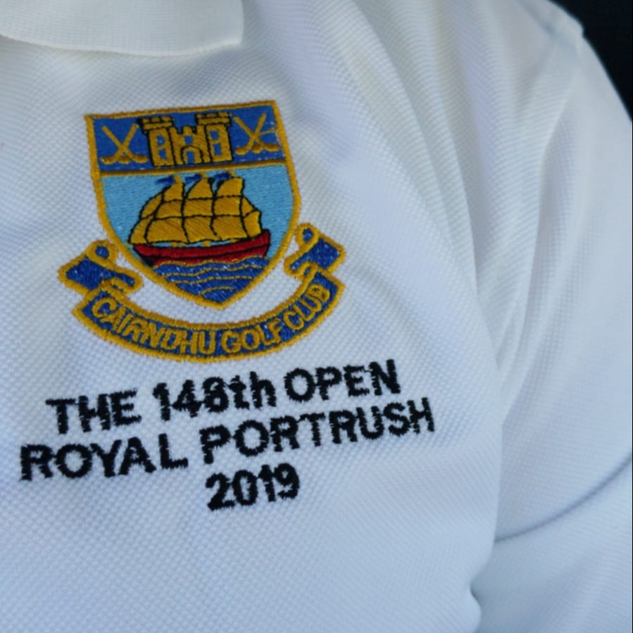 Cairndhu volunteered at the Open