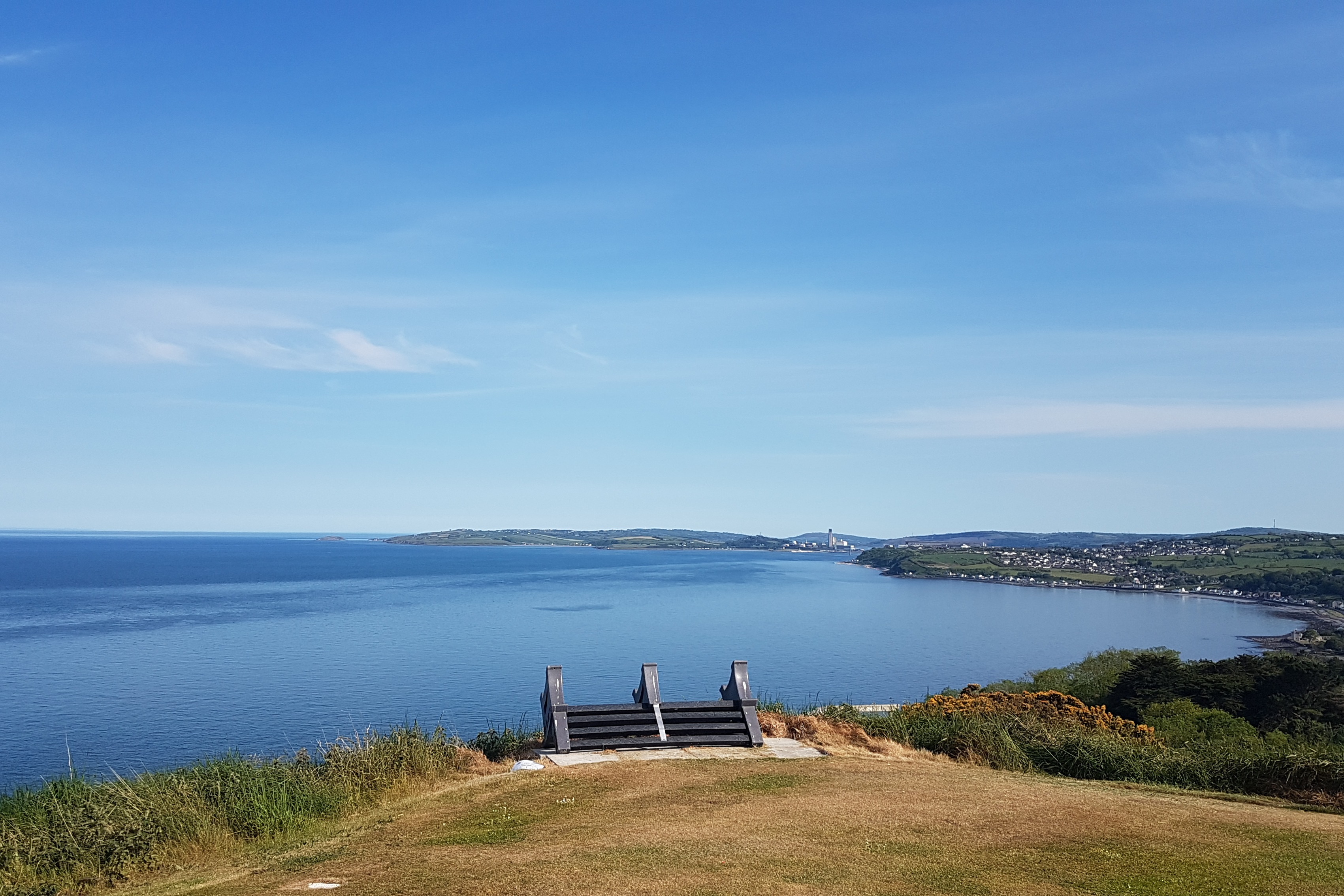 Looking towards Larne from the 2nd tee