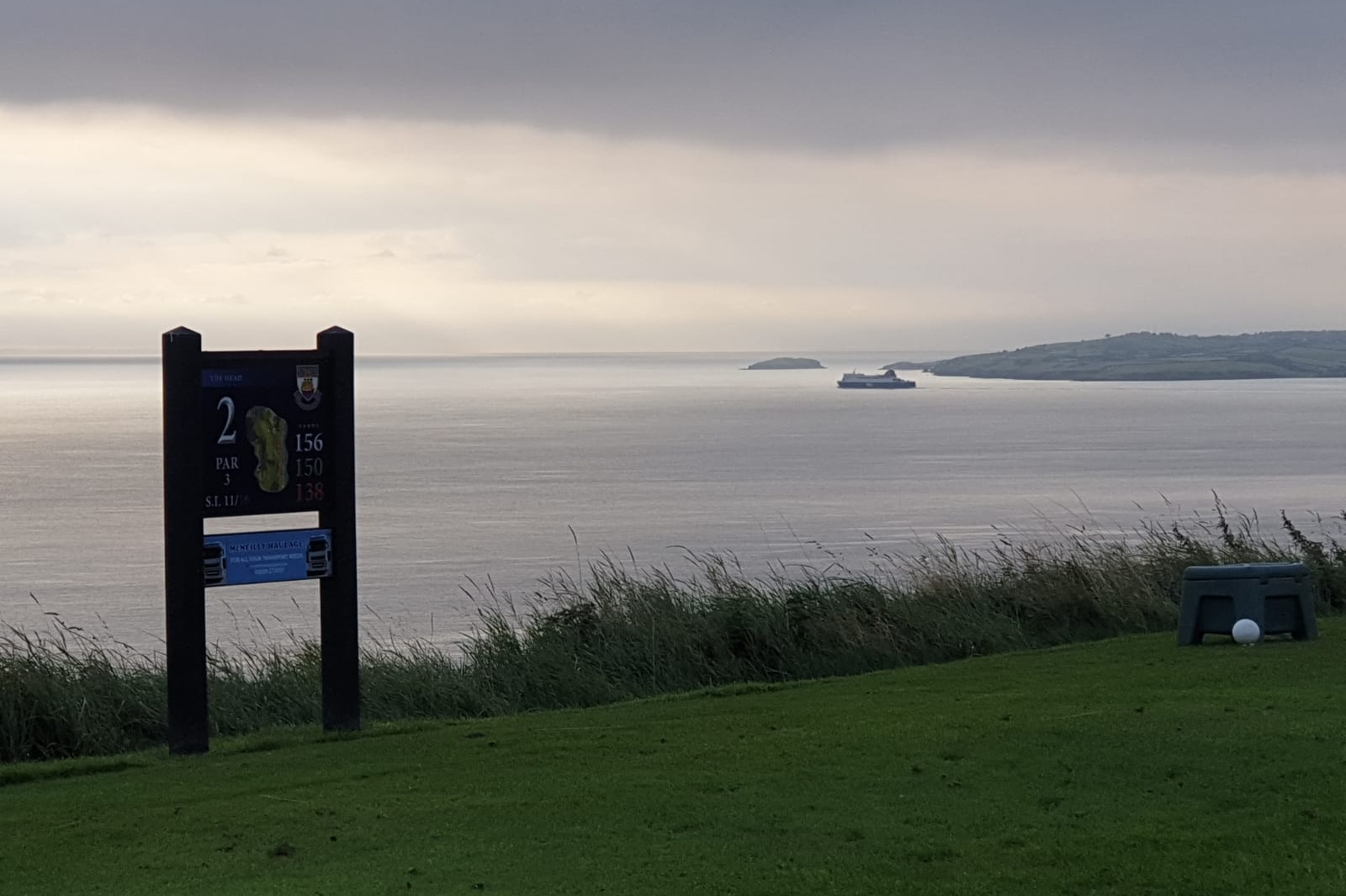 P&O Ferry heading to Scotland from the 2nd tee
