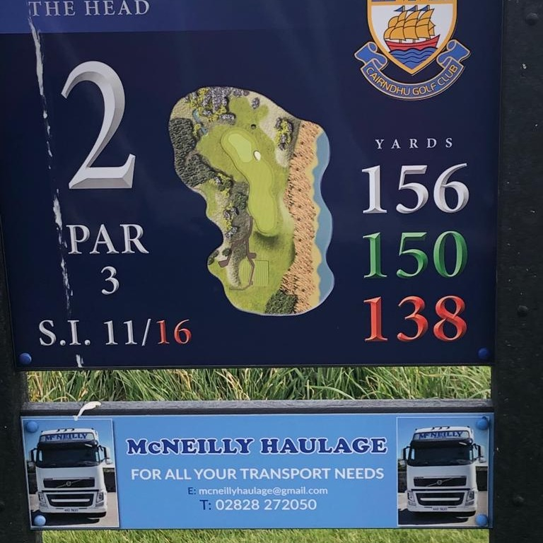 2nd Tee - David McNeilly Transport 02828 272050