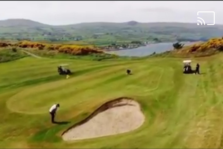 The 2nd green from a drone