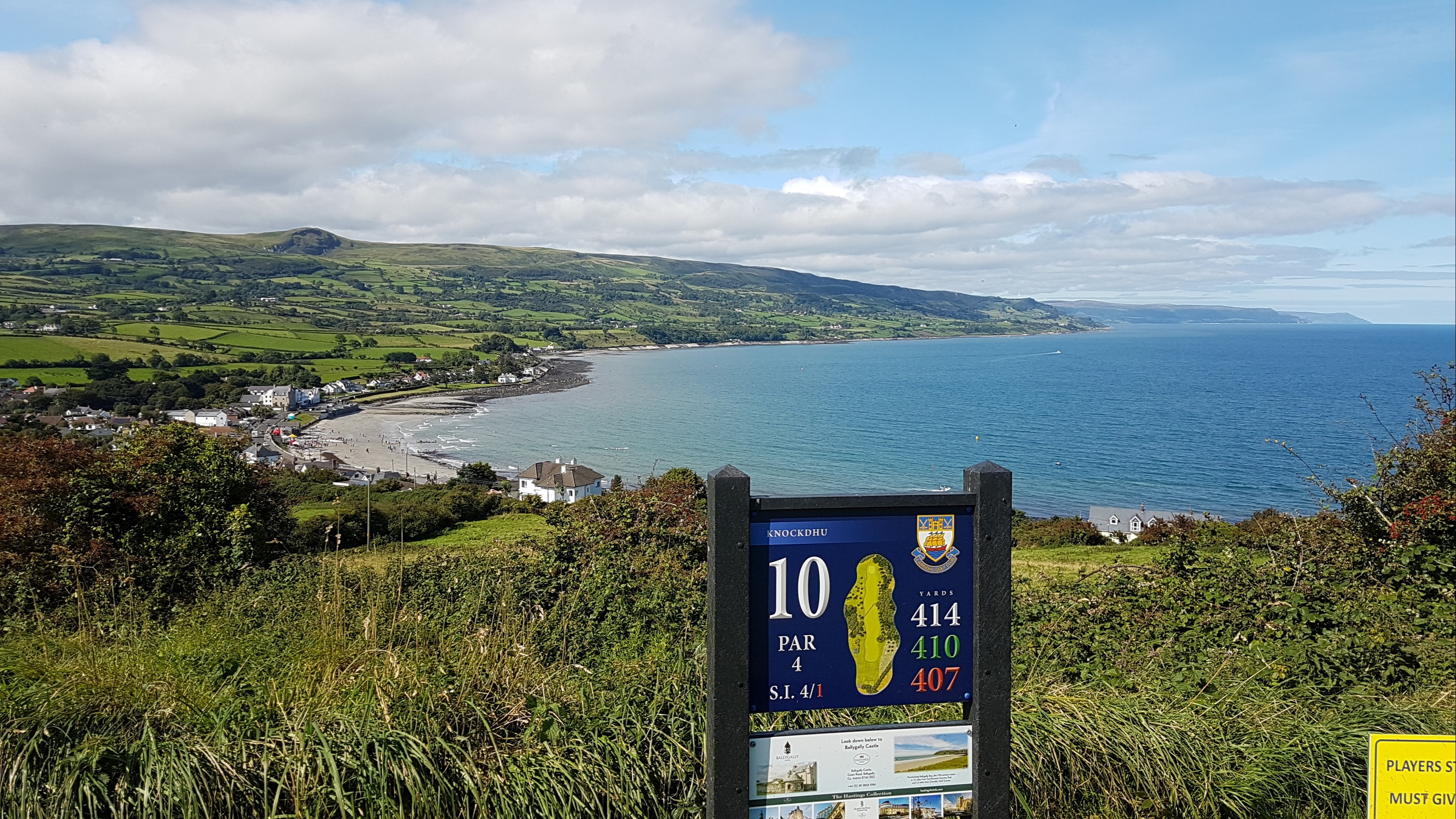 Ballygally Bay from the 10th tee