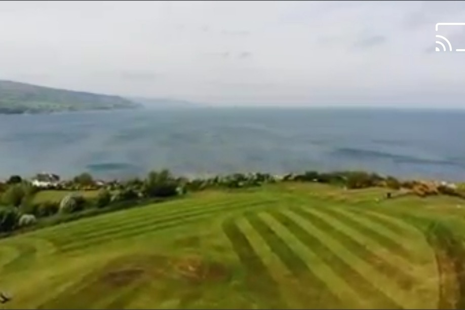 Ballygally Bay and the 10th tee