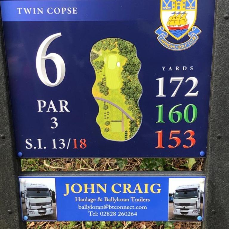 6th Tee - John Craig Transport 02828 260264