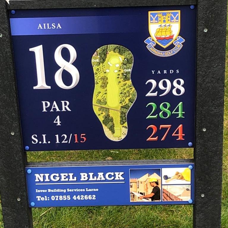18th Tee - Nigel Black 07855 442662