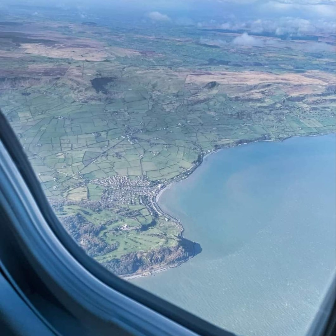 View of the course from an airplane