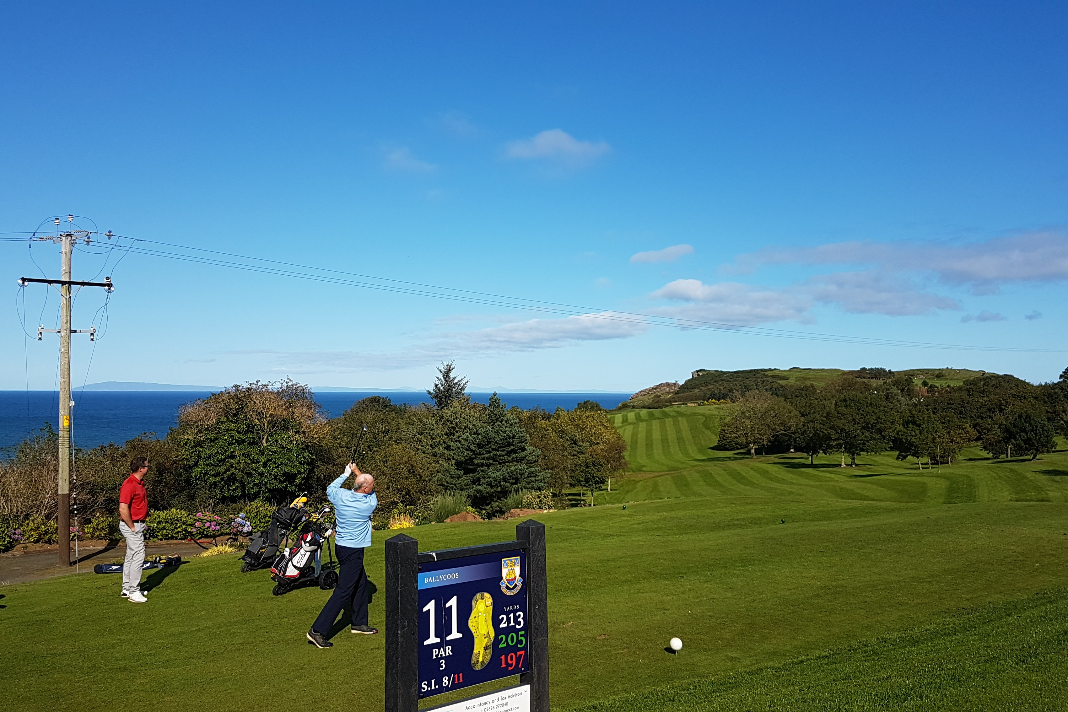 Teeing off on the 11th