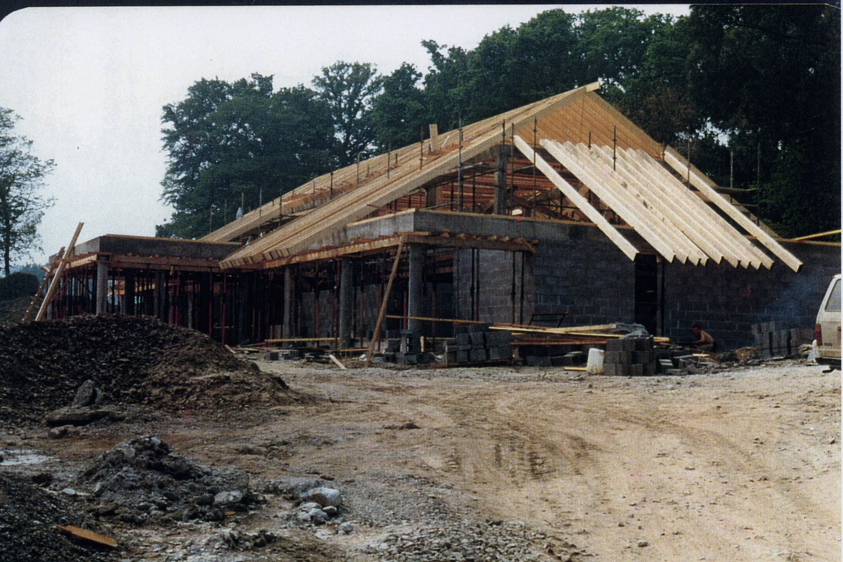 Clubhouse  under construction