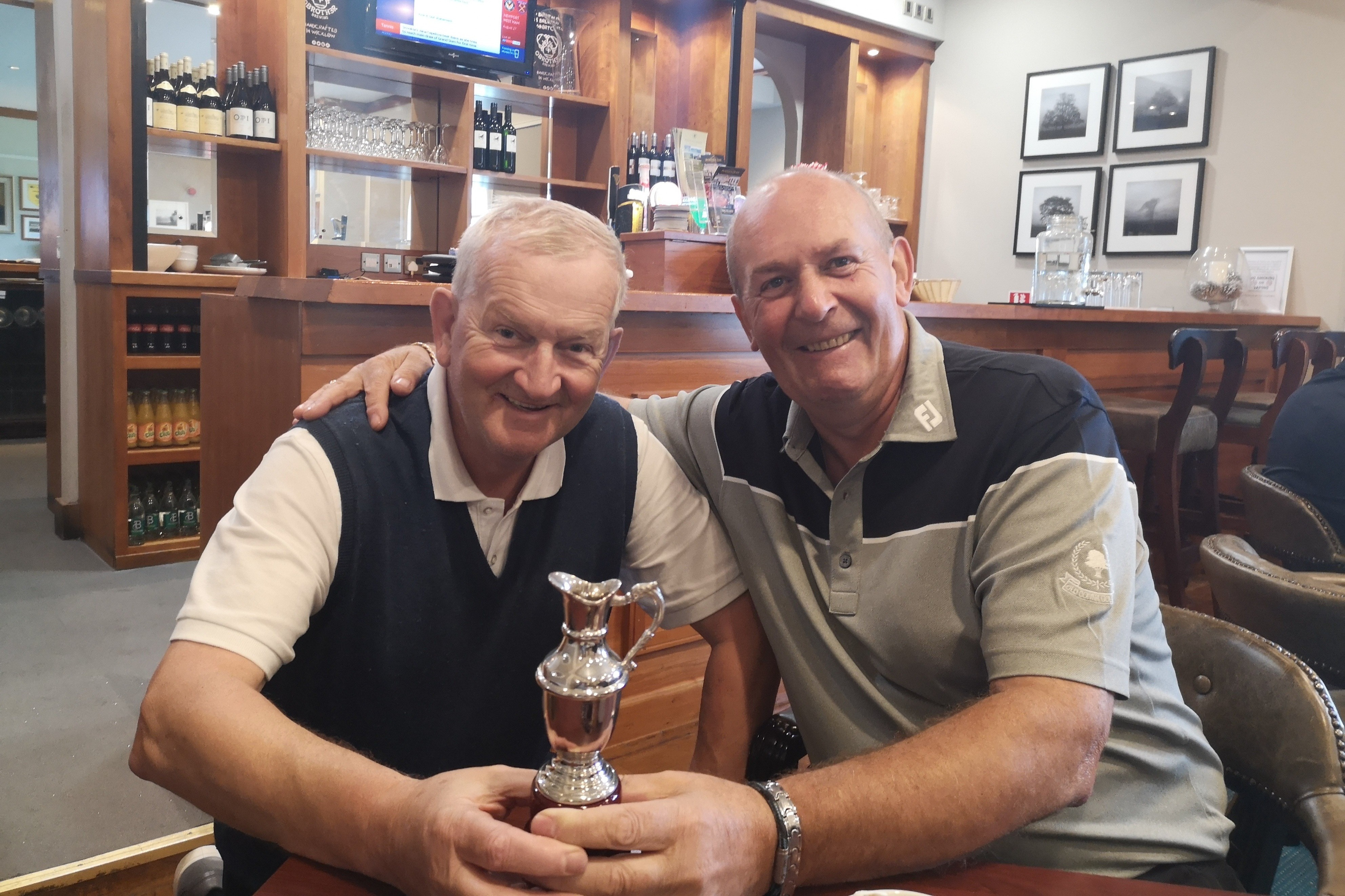 A very rare view - a trophy not only in Old Conna but won by Michael Neary!