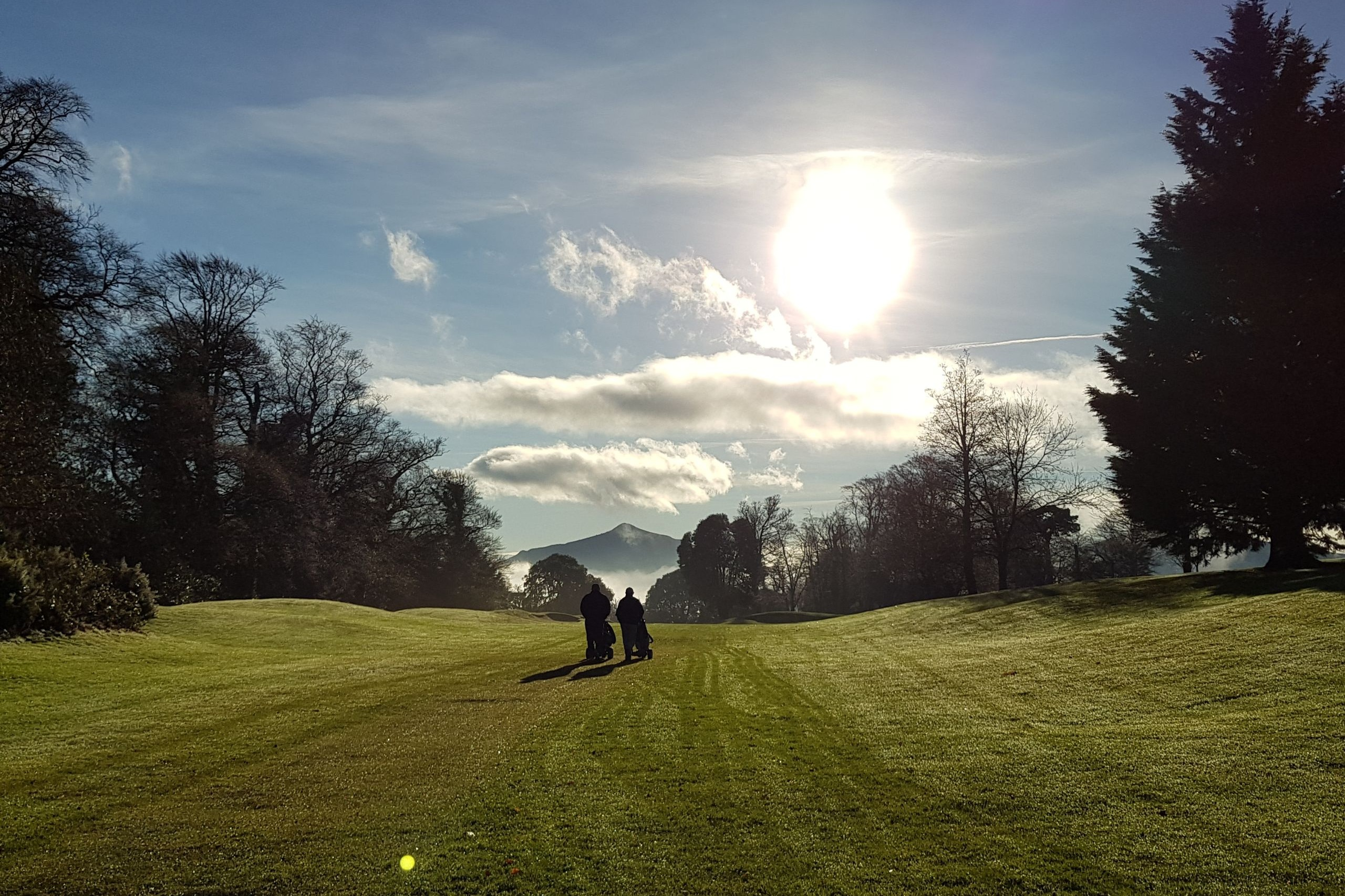 President Declan O'Neill's - Winter sun at the 9th - 23/12/17