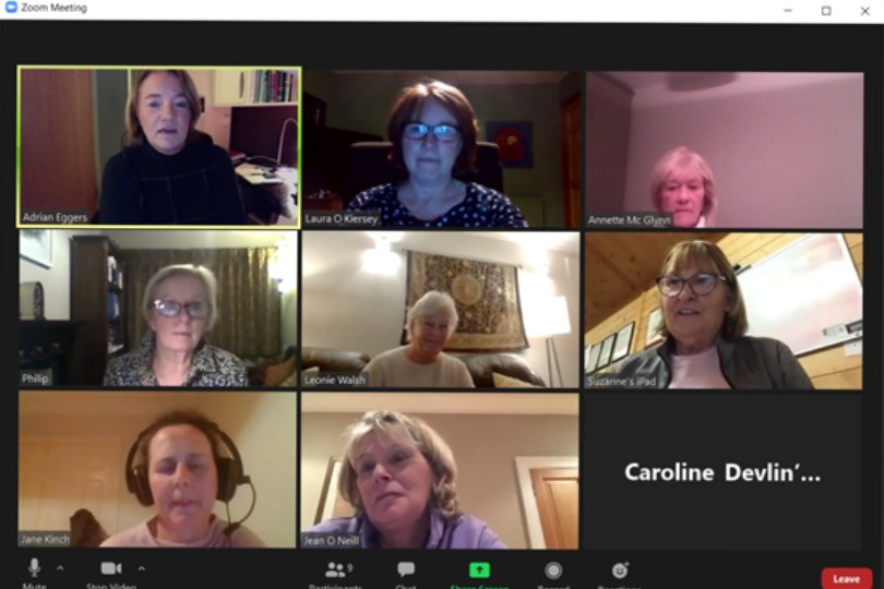 Ladies Committee 2020 signing off on zoom